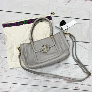 Primary Photo - BRAND: TORY BURCH STYLE: HANDBAG DESIGNER COLOR: GREY SIZE: SMALL OTHER INFO: AS IS MSRP $435 AMANDA MINI SATCHEL SKU: 116-116140-7248