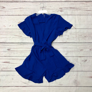 Primary Photo - BRAND:    CLOTHES MENTOR STYLE: DRESS SHORT SHORT SLEEVE COLOR: ROYAL BLUE SIZE: S OTHER INFO: ROMPER SKU: 116-116134-7588