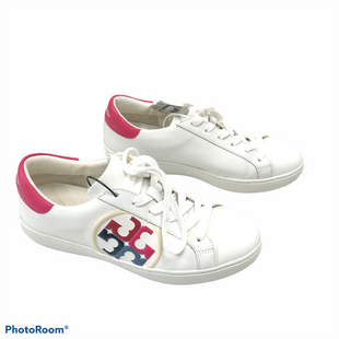 Primary Photo - BRAND: TORY BURCH STYLE: SHOES ATHLETIC COLOR: WHITE SIZE: 7 OTHER INFO: MSRP $228 - LEIGH T-LOGO SNEAKER SKU: 116-116140-11088