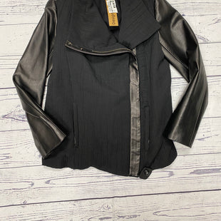 Primary Photo - BRAND:    CLOTHES MENTOR STYLE: JACKET OUTDOOR COLOR: BLACK SIZE: L OTHER INFO: HELMUT LANG - LEATHER TRIM AND SLEEVES SKU: 116-116126-26727