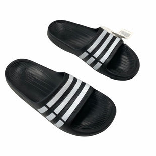 Primary Photo - BRAND: ADIDAS STYLE: SANDALS FLAT COLOR: BLACK WHITE SIZE: 7 OTHER INFO: NWT SKU: 116-116126-36436