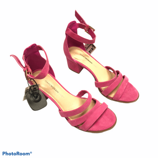 Primary Photo - BRAND: ISAAC MIZRAHI LIVE QVC STYLE: SANDALS HIGH COLOR: PINK SIZE: 7.5 SKU: 116-116141-9085