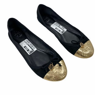 Primary Photo - BRAND: TORY BURCH STYLE: SHOES FLATS COLOR: GOLD SIZE: 8 OTHER INFO: AS IS SLIGHT WEAR ON SUEDE SKU: 116-116126-35538
