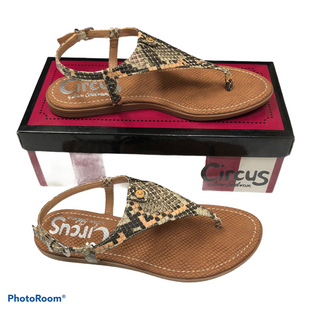 Primary Photo - BRAND: CIRCUS BY SAM EDELMAN STYLE: SANDALS FLAT COLOR: SNAKESKIN PRINT SIZE: 8 OTHER INFO: NIB CAROLINA PEACH MSRP 50 SKU: 116-116126-35181