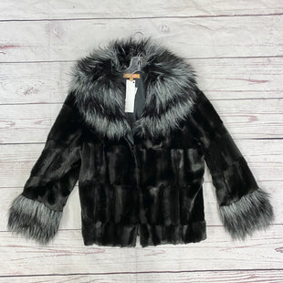 Primary Photo - BRAND: ELLEN TRACY STYLE: COAT SHORT COLOR: BLACK SILVER SIZE: XL SKU: 116-116126-32638
