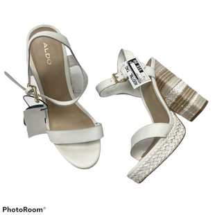 Sandals High By Aldo  Size: 10 - BRAND: ALDO STYLE: SANDALS HIGH COLOR: WHITE SIZE: 10 SKU: 116-116126-34481