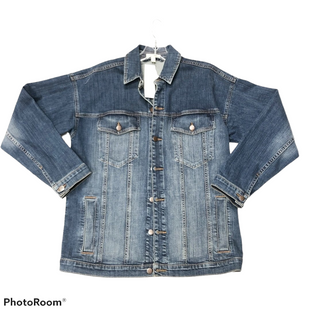 Jacket Outdoor By Eileen Fisher  Size: Xs - BRAND: EILEEN FISHER STYLE: JACKET OUTDOOR COLOR: DENIM SIZE: XS OTHER INFO: OVERSIZED SKU: 116-116134-8768