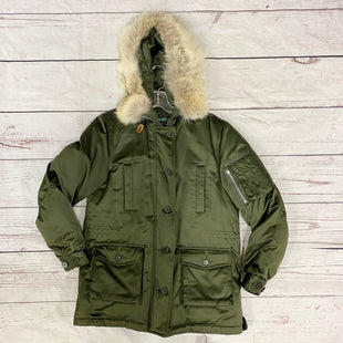 Primary Photo - BRAND: LAUREN BY RALPH LAUREN STYLE: COAT SHORT COLOR: OLIVE SIZE: S OTHER INFO: AS IS MISSING ZIPPER PIECE ON ARM PICTUREDSKU: 116-116126-32643