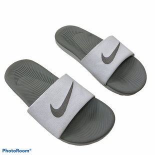 Primary Photo - BRAND: NIKE STYLE: SANDALS FLAT COLOR: GREY WHITE SIZE: 6 SKU: 116-116140-11214