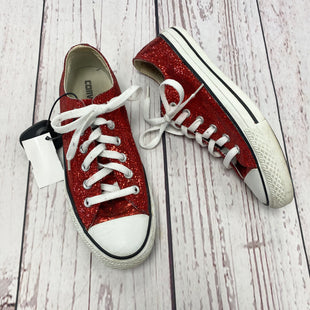 Primary Photo - BRAND: CONVERSE STYLE: SHOES ATHLETIC COLOR: RED SIZE: 8 OTHER INFO: AS IS - DIRTY LACES SKU: 116-116140-5945