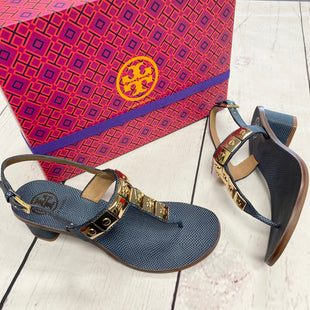 Primary Photo - BRAND: TORY BURCH STYLE: SANDALS LOW COLOR: NAVY SIZE: 7.5 OTHER INFO: NIB EST MSRP $248 SKU: 116-116140-7347
