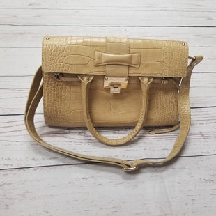 Primary Photo - BRAND: JIMMY CHOO STYLE: HANDBAG DESIGNER COLOR: BEIGE SIZE: LARGE OTHER: AS IS- SEE PICTURESSKU: 116-116140-5764