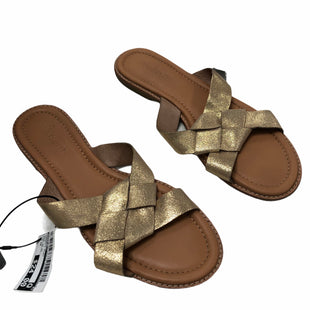 Primary Photo - BRAND: MADEWELL STYLE: SANDALS FLAT COLOR: GOLD SIZE: 10 OTHER INFO: MSRP 98.00 SKU: 116-116134-9934