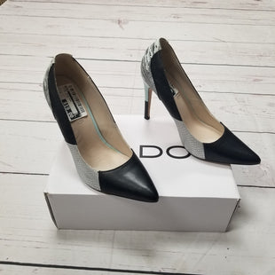 Primary Photo - BRAND: ALDO STYLE: SHOES HIGH HEEL COLOR: BLACK SILVER SIZE: 8 SKU: 116-116126-30625