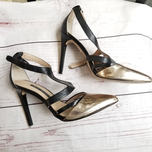 Primary Photo - BRAND: FRENCH CONNECTION STYLE: SHOES HIGH HEEL COLOR: METALLIC SIZE: 9.5 OTHER INFO: AS IS SKU: 116-116137-3181