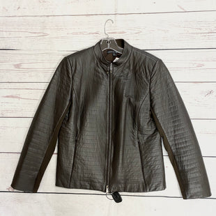 Primary Photo - BRAND: LAFAYETTE 148 STYLE: JACKET LEATHER COLOR: BROWN SIZE: 12 SKU: 116-116126-33854