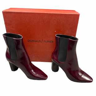Primary Photo - BRAND: DONALD PLINER STYLE: BOOTS ANKLE COLOR: BURGUNDY SIZE: 6 OTHER INFO: MSRP $298 SKU: 116-116141-8911