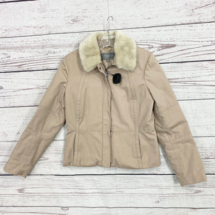 Primary Photo - BRAND: ANN TAYLOR STYLE: JACKET OUTDOOR COLOR: TAN SIZE: S OTHER INFO: PETITE - AS IS ONE TINY SPOT PICTUREDSKU: 116-116134-7650
