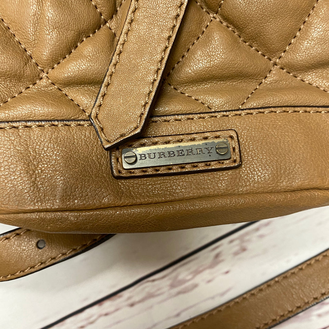 Photo #4 - BRAND: BURBERRY <BR>STYLE: HANDBAG DESIGNER <BR>COLOR: BROWN <BR>SIZE: SMALL <BR>OTHER INFO: AS IS CORNERS <BR>SKU: 116-116126-29053