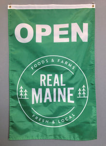 Real Maine Open Flag
