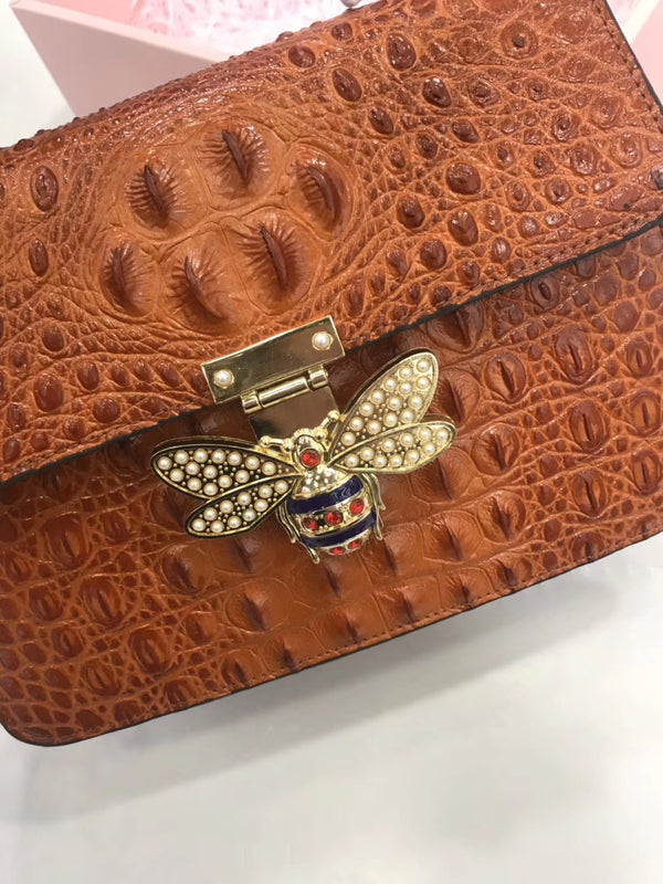 Leather Bee Purses