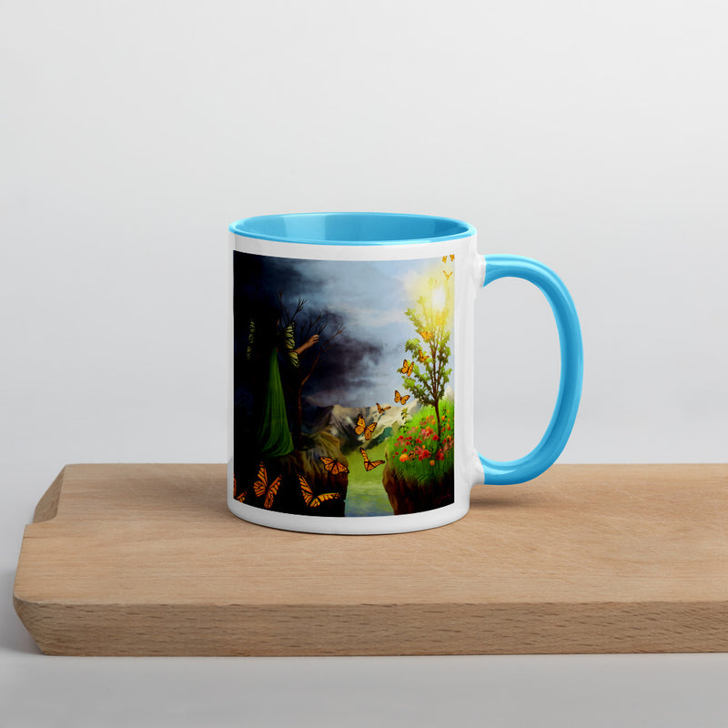 Courage 2 on Coffee Mug with Color Inside