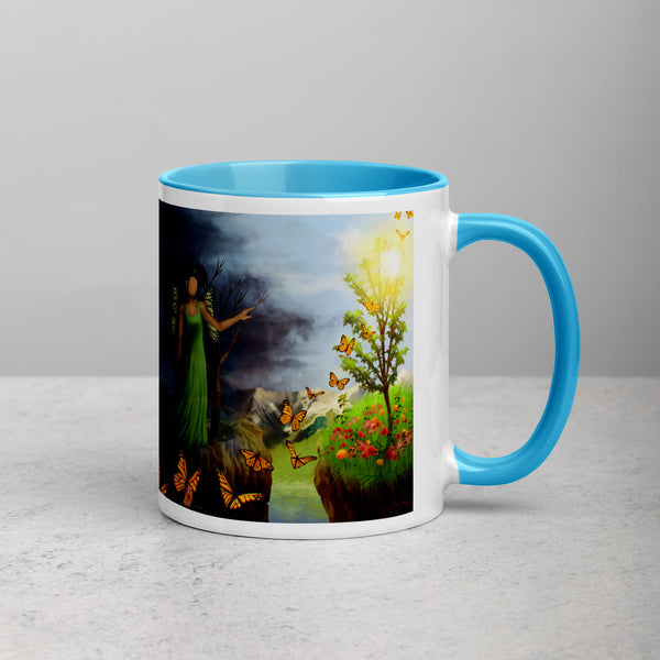 Courage 5 on Coffee Mug with Color Inside