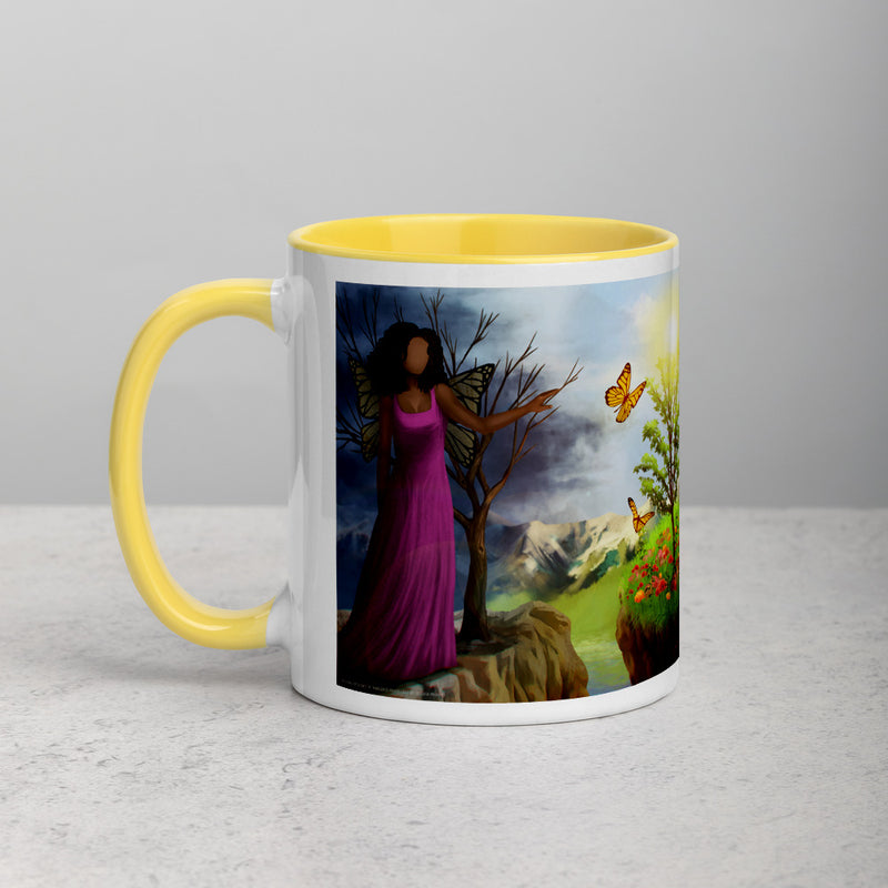 Courage 3 Coffee Mug with Color Inside