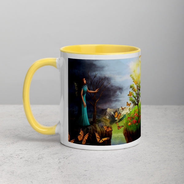 Courage 1 on Coffee Mug with Color Inside