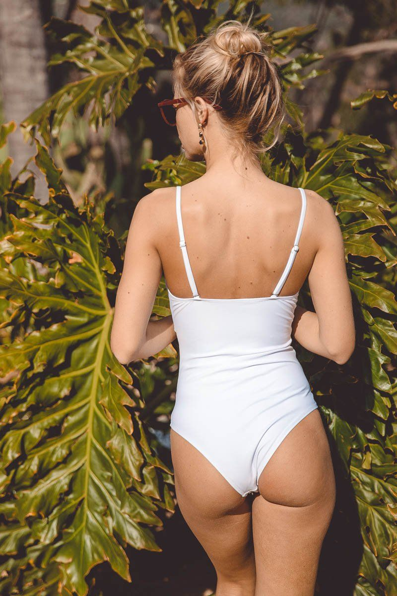 FRONT-TIE ONE-PIECE