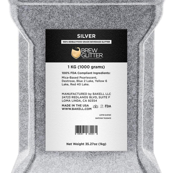 Silver Brew Glitter by the Case-Wholesale_Case_Brew Glitter-Bakell