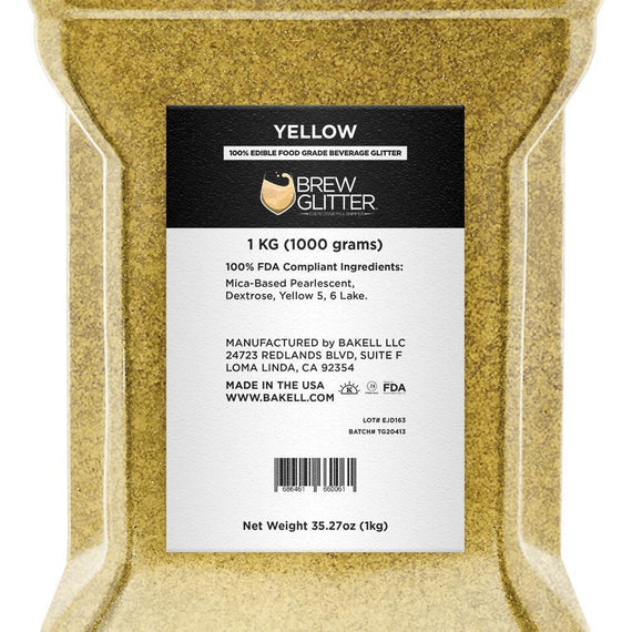 Yellow Brew Glitter by the Case-Wholesale_Case_Brew Glitter-Bakell