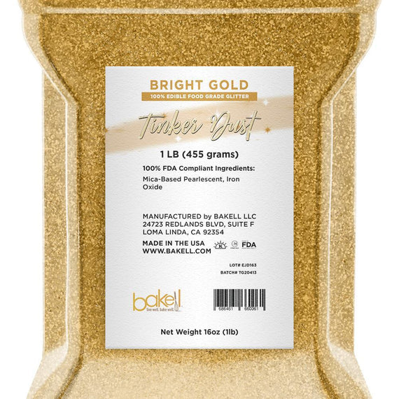 Bright Gold Edible Tinker Dust | Bulk Sizes-Bulk_Tinker Dust-Bakell