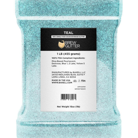 Teal Brew Glitter by the Case-Wholesale_Case_Brew Glitter-Bakell