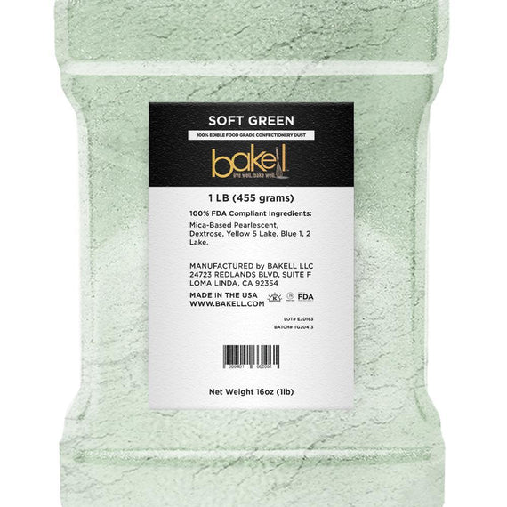 Soft Green Edible Luster Dust | Bulk Sizes-Bulk_Luster Dust-Bakell