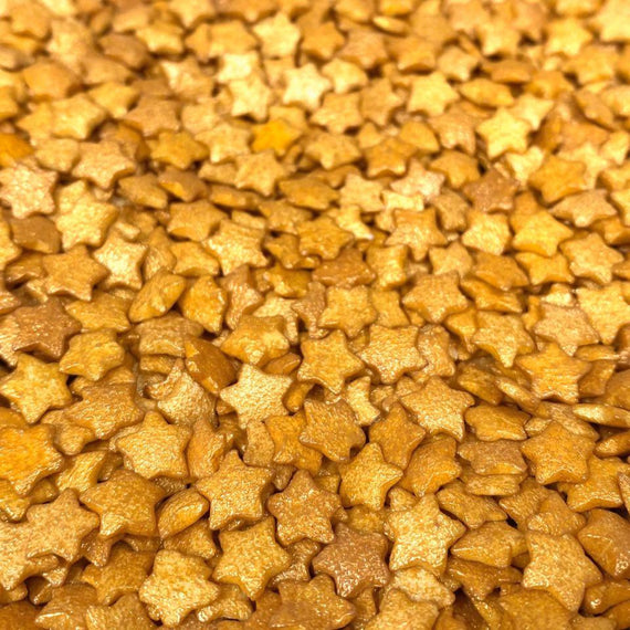 Gold Star Shiny Pearl Shaped Sprinkles by the case | Bulk Sizes-Bulk_Sprinkles-Bakell