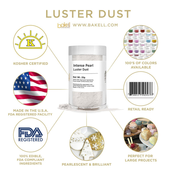 Intense Pearl White Luster Dust by the Case-Wholesale_Case_Luster Dust-Bakell