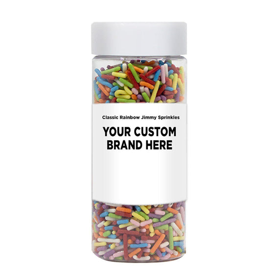 Classic Rainbow Jimmies Sprinkles | Private Label (48 units per/case)-Private Label_Case_Krazy Sprinkles-Bakell