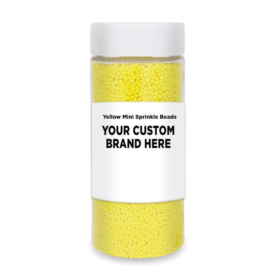 Yellow Mini Sprinkle Beads | Private Label-Private Label_Case_Krazy Sprinkles-Bakell