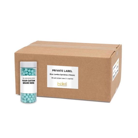 Blue 10mm Beads Sprinkles | Private Label-Private Label_Case_Krazy Sprinkles-Bakell
