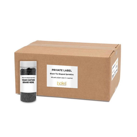 Black Tie Shaped Sprinkles | Private Label-Private Label_Case_Krazy Sprinkles-Bakell