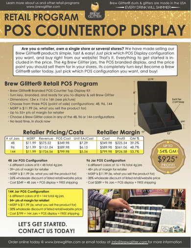 Brew Glitter® POS Counter Top Display | Re-seller & Retailer Program-POS-Bakell