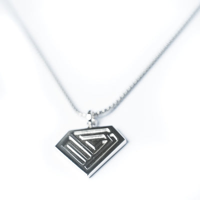 mens white gold luxury pendant from NE1 Jewellery