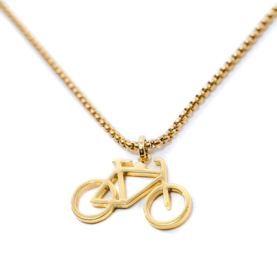 ne1 luxury gold bike pendant for men