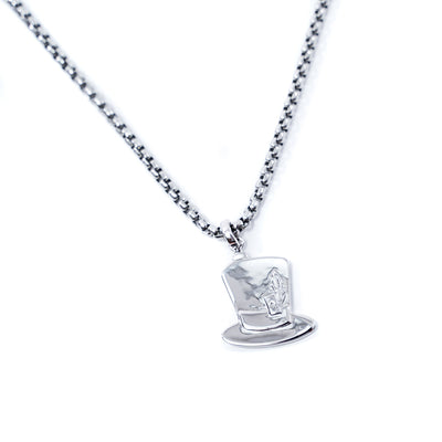ne1 premium mad hatter pendant for men in white gold