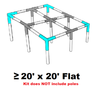 "All Sizes Flat Roof Canopy Parts Kit 3/4"" Diameter"