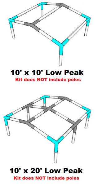 "All Sizes Low Peak Roof Canopy Parts Kit 1"" Diameter"