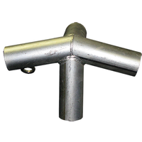 "Extra Wide Low Peak Roof Canopy Parts Kit (1-1/2"" Diameter) with Couplers & Bar Braces"