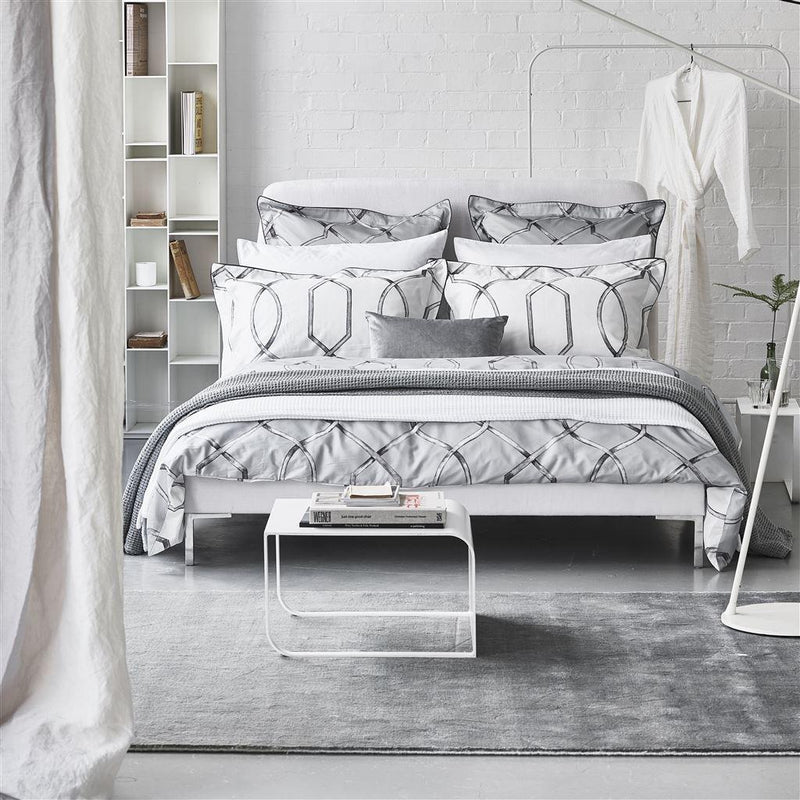 Designers Guild Rabeschi Slate 4 Piece Bedding Set