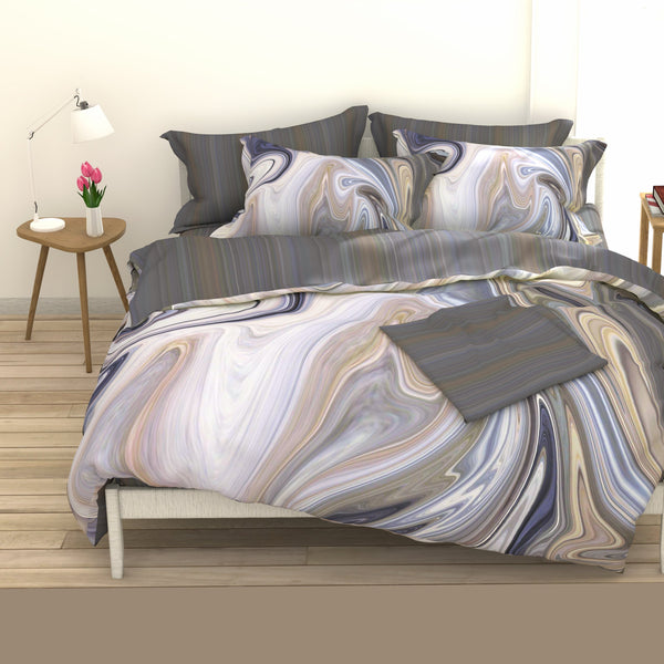 Elegant Linen Agate 4 Piece Bedding set